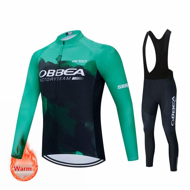 Ropa de Ciclismo de invierno para hombre, Jersey térmico de lana, ropa...