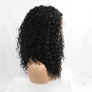 DLME Kinky Curly Synthetic Wig  Lace Front Wigs Nature black curly wig High Temperature Black Women Wig