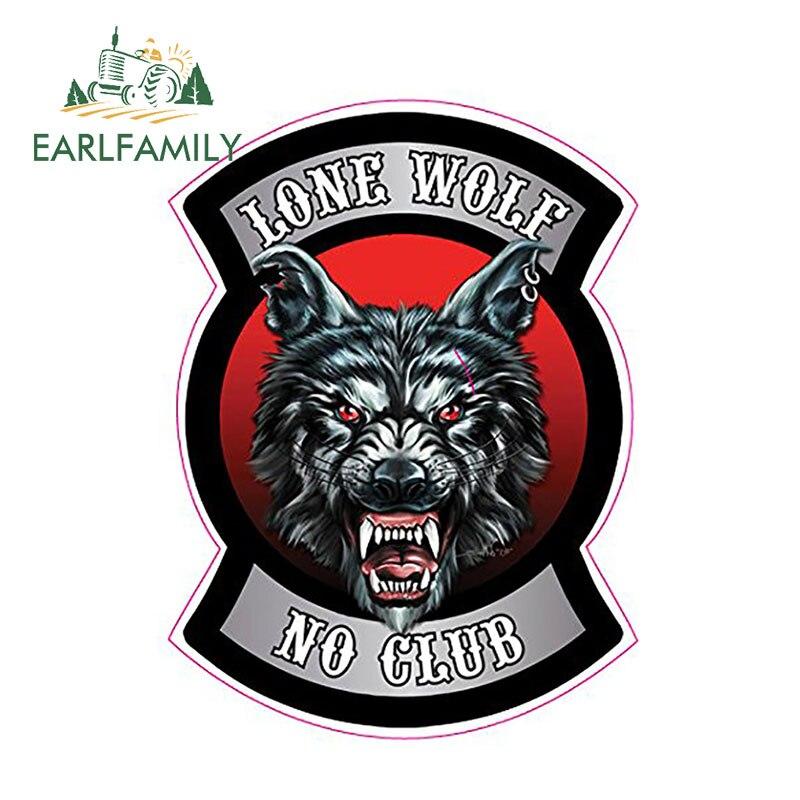 EARLFAMILY 13 см x 9,5 см Одинокий волк без клубный стикер забавные Авто наклейки для автомобиля Стайлинг наклейка Аксессуары для мотоцикла