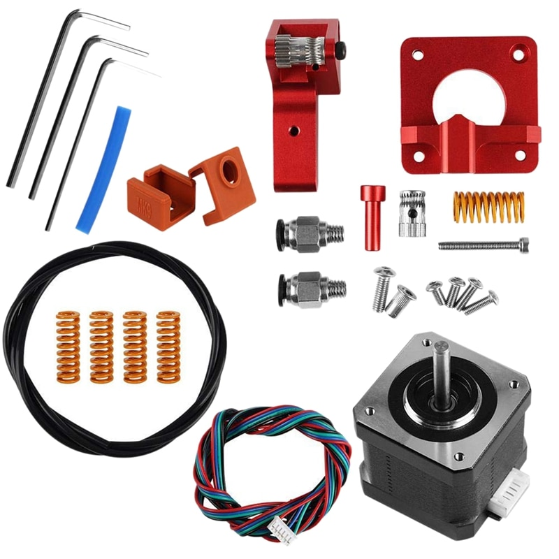 Accesorios de impresora 3D, extrusora de 3 CR-10, Kit de Motor mejorado de 42 pasos, extrusoras de impresora 3D de aluminio, resorte Doble