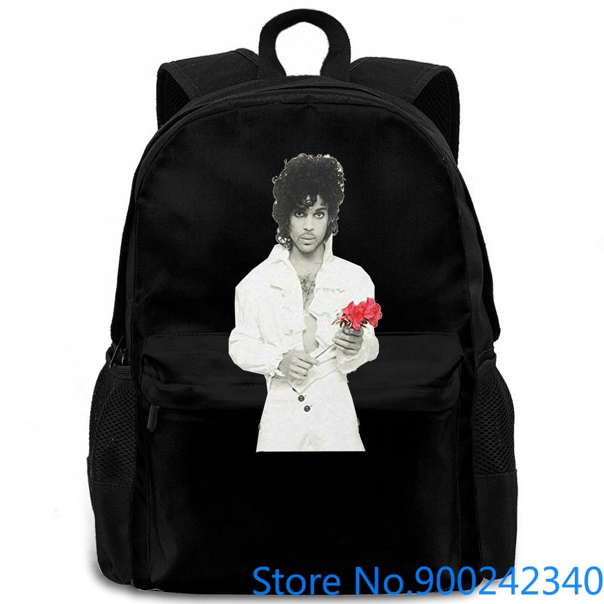 Mochila para hombre y mujer, nueva oferta barata, Prince Rose Flower All s, mochila de viaje para ordenador portátil, estudiante de escuela y adulto
