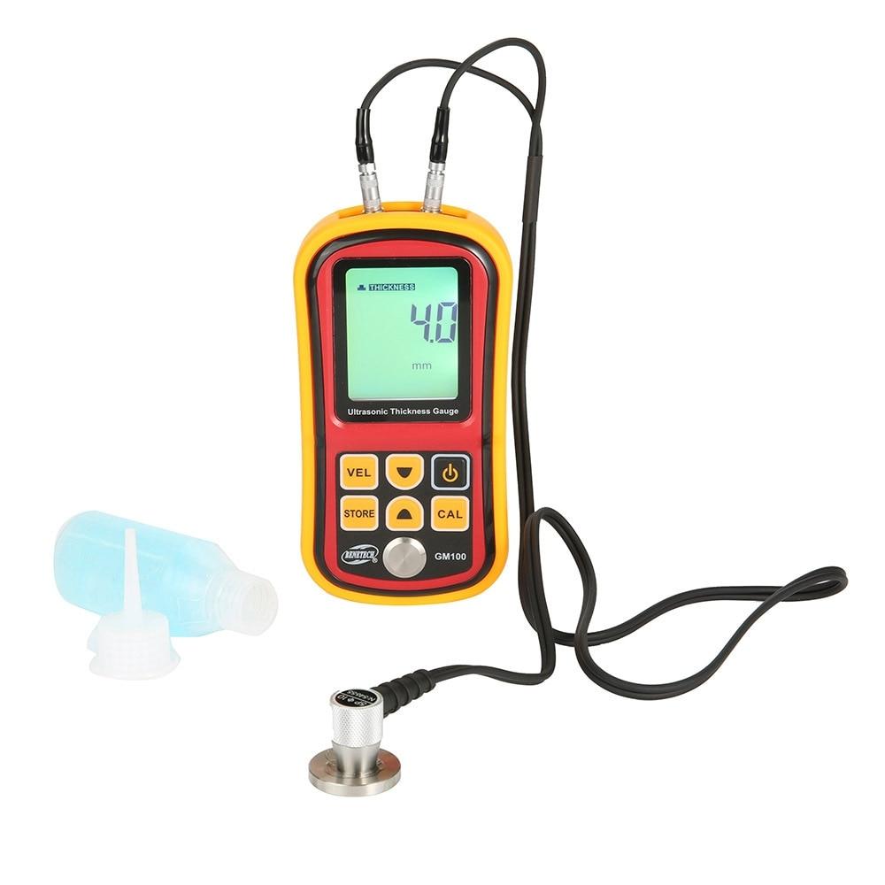 Medidor Digital de medidor de espesor ultrasónico, rango 1,2-220mm, con caja de almacenamiento duro