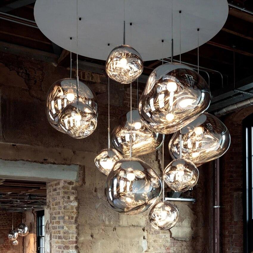 北欧ガラス溶岩 E27 ペンダントライト照明ペンダントランプホーム装飾リビングルームバーカフェロフトキッチン器具 Hanglamp