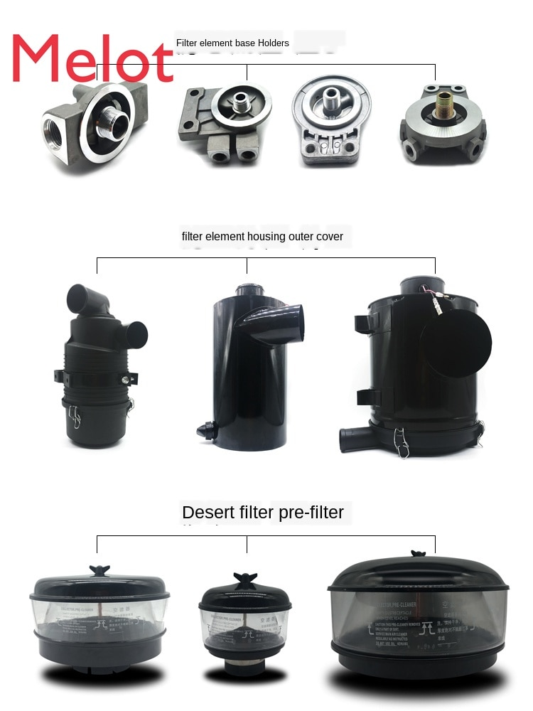 Excavator Accessories Diesel Engine Oil Air Filter Element Hydraulic Oil Inlet Pilot Oil Return Filter Full Set kit tool hot enlarge
