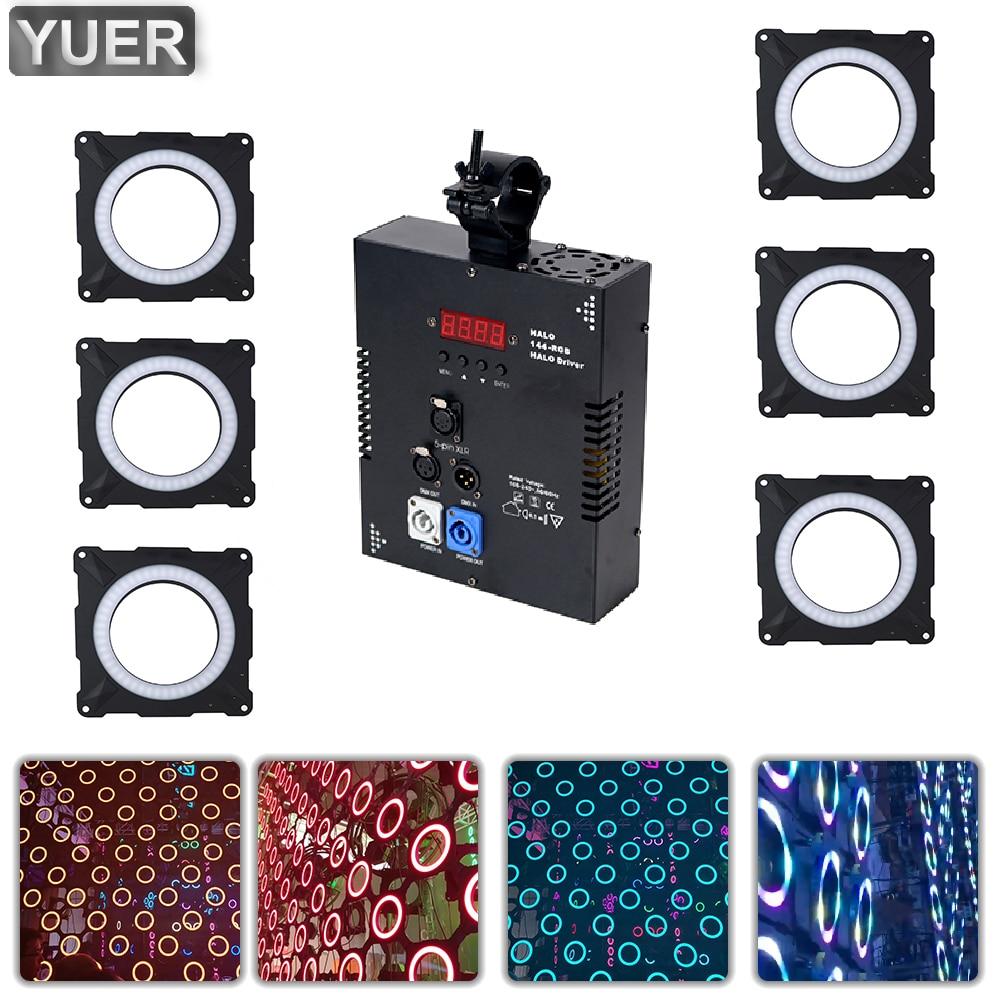 Светодиодный прожектор Halo 6X144 RGB с пиксельной матрицей, контроллер освесветильник для сцены, 4/7/108/432/436CH DMX512, освесветильник для диджея, диско...