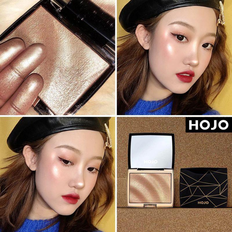 HOJO, 3 цвета, хайлайтер для лица, бронзер, мерцающая пудра, осветляющая контурная пудра, макияж для тела, хайлайтер, iluminador maquillaje TSLM1