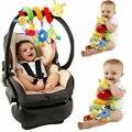 Милый активности музыкальный спираль кроватки коляска автомобильное сиденье для путешествий, Игрушки для маленьких мальчиков и девочек погремушки игрушки