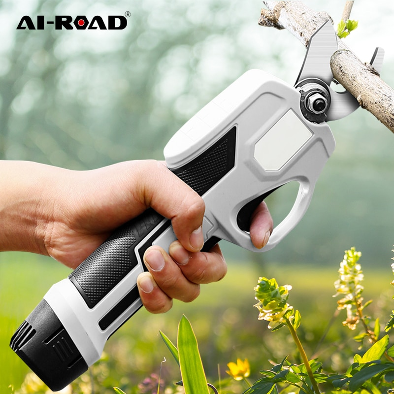 Cordless Rechargeable Electric Tree Trimmer Lithium Hedge Cutter Electric Pruning Shears Scissors Garden Pruner Electric Tools