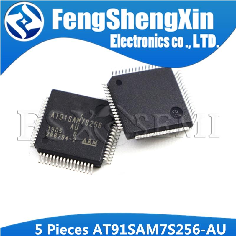 5pcs AT91SAM7S256-AU QFP64 AT91SAM7S256 91SAM7S256 LQFP-64 Micro controlador