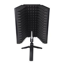 طوي ميكروفون الصوتية العزلة درع الصوتية الرغاوي لوحة استوديو لتسجيل بث مباشر ميكروفون اكسسوارات