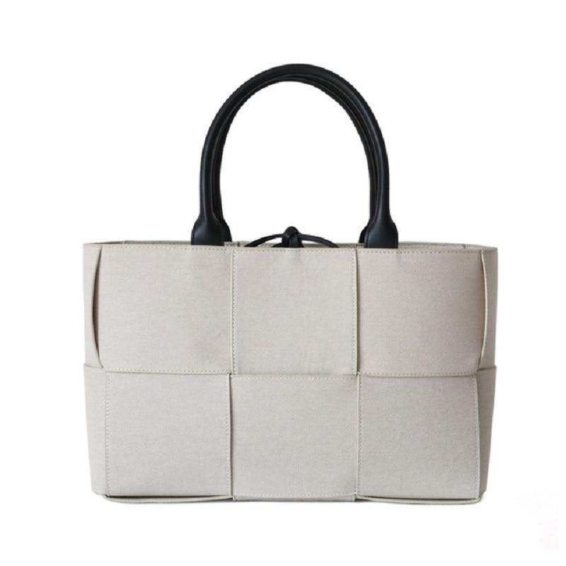 حقيبة يد نسائية فاخرة ، حقيبة مصممة ، قماش ، منسوجة ، مجموعة جديدة ، 2020