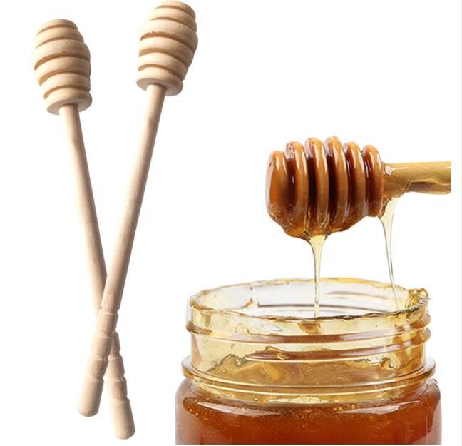 500 шт 15 см/16 см деревянная мешалка для меда палка ковша мед Stick ложка для меда стержень