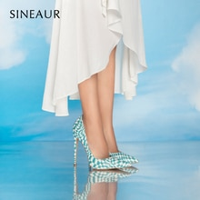 Fashion Heels 2021 Shoes Woman Heel Luxury Ladies Pumps Shoes Checkered Animals Print Pointed Toe Pa