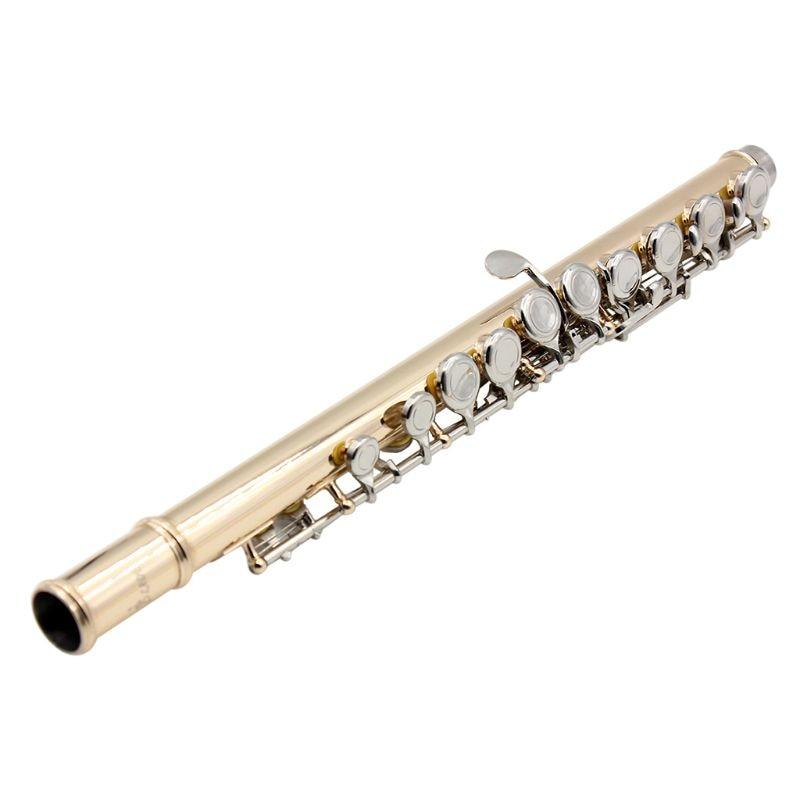 Gold 16 Holes C Key Flute Cupronickel Body Silver Keys with Storage Bag enlarge