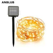 ANBLUB extérieur 10M 20M lampe solaire LED chaîne fée lumières Flash 100/200led s étanche pour noël jardin décoration de mariage