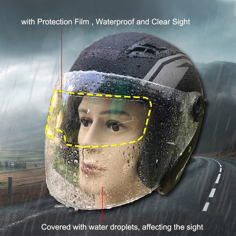 Filme Lente Capacete Da Motocicleta Universal À Prova D Água de Chuva e Nevoeiro Película de Proteção, Capacete Adesivo Filme Anti Nevoeiro Lente Transparente