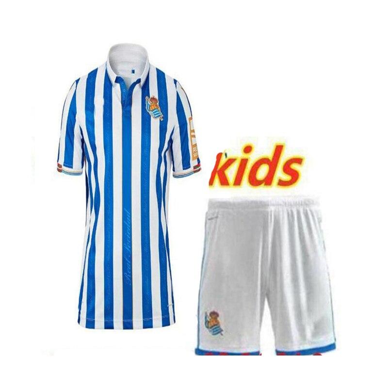 20 21 for Real Sociedad kids kits shirt X.PRIETO JUANMI AGIRRETXE CARLOS MOYA ARITZ Custom Home 2020