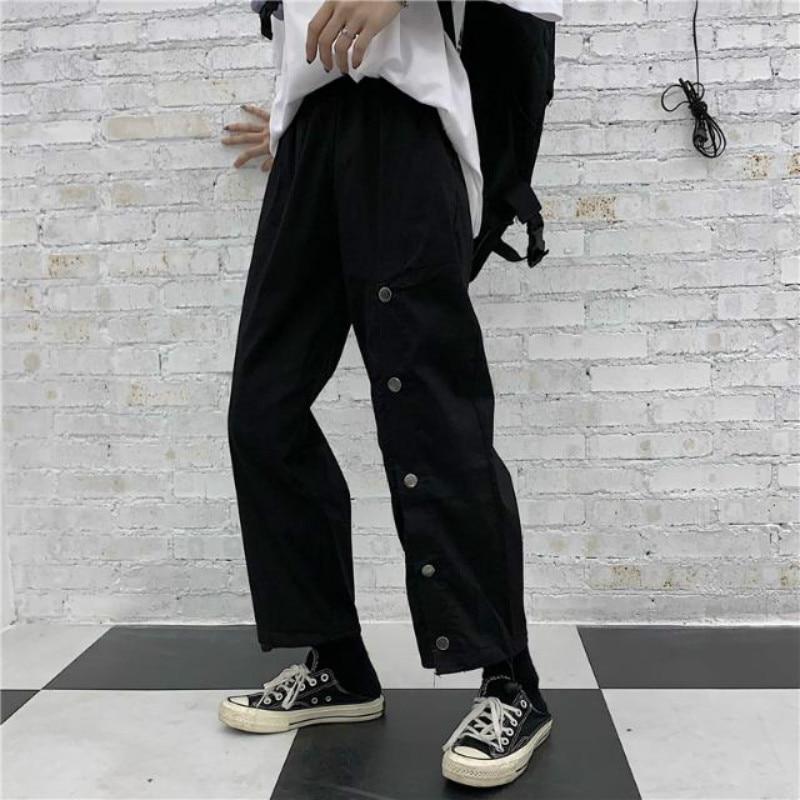 2020 Ins Cargo Pants Womens Loose Wide Leg Fashion Korean Pants Students Straight Woman Sweatpants Woman Joggers Harajuku Pants grrcosy maternity autumn new korean sweatshirt loose sportswear with wide leg pants fashion pregnant woman set cloth