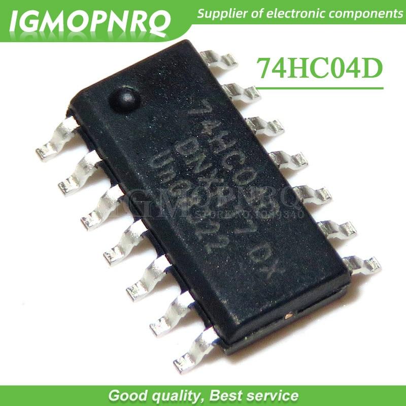 10 pçs/lote 74HC04 74HC04D HC04, SOT108-1 SMD Hex inverter, SOP-14, ICs Novo e Original