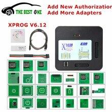 Newest XPROG V6.12 Add New Authorization V5.84 V5.72 X-PROG M Metal Box XPROG-M ECU Programmer Tool X Prog M V6.12 Full Adapters