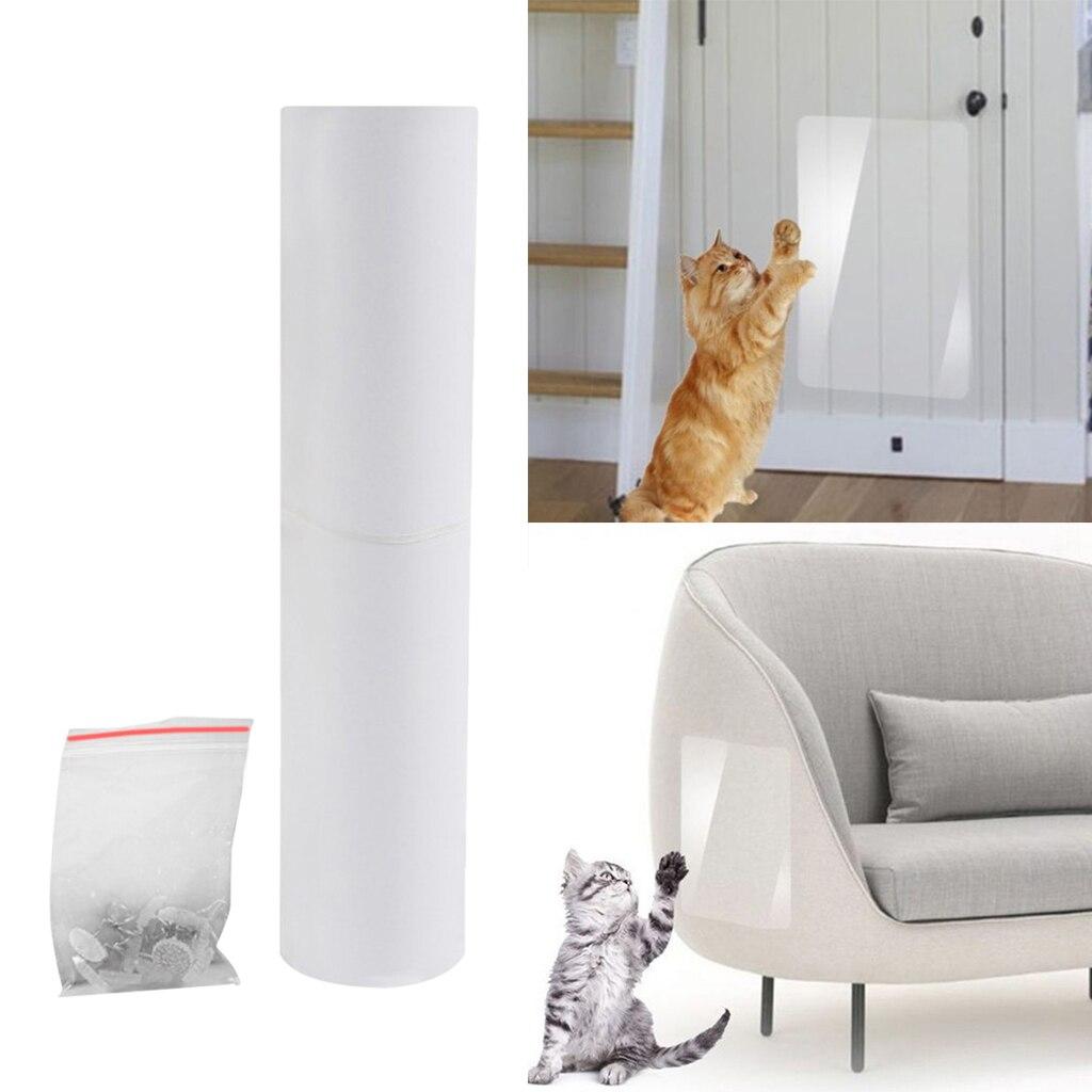 Прозрачная клейкая лента для защиты от царапин, ПВХ, для защиты дивана, защиты от царапин Мебель и когтеточки      АлиЭкспресс