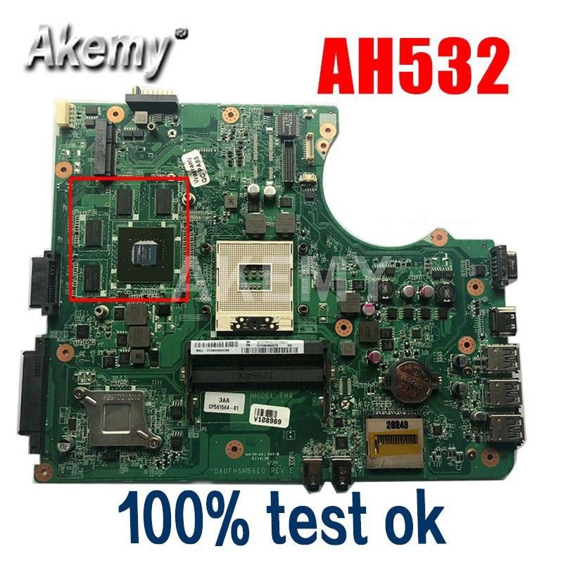 مذربورد فوجيتسو A532 AH532 DA0FH6MB6E0 DDR3, اللوحة الإلكترونية الأم بجرافيك منفصل 100% مفحوصة بنجاح التسليم