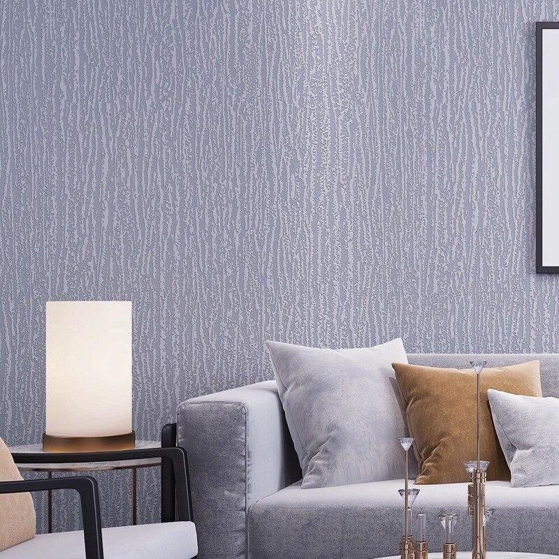 ورق حائط عصري بلون سادة ديكور منزلي غير منسوج جداريات مموجة لغرفة النوم غرفة المعيشة ديكور Papel