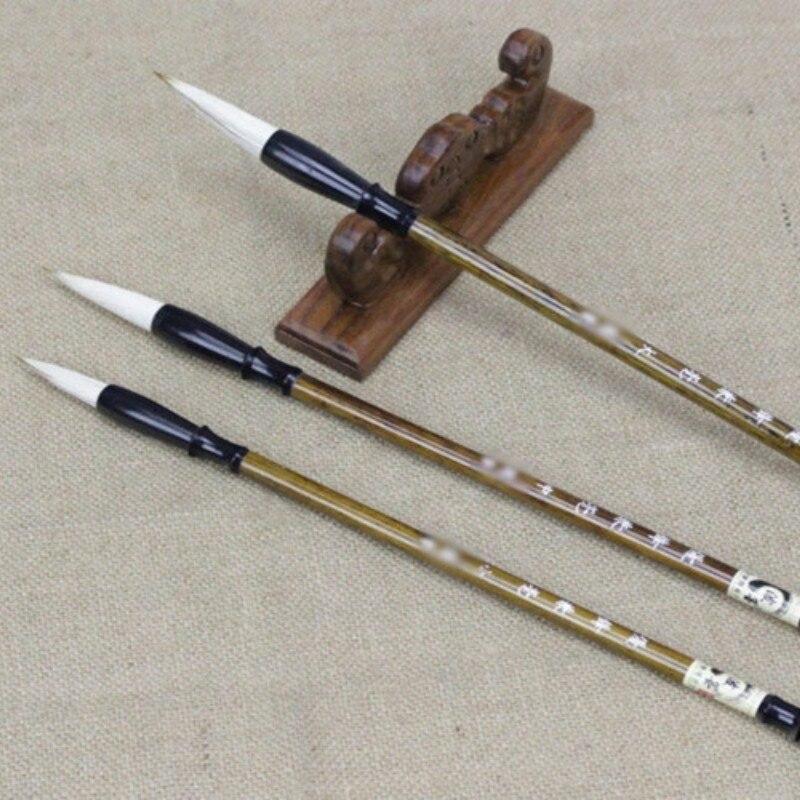 1 pc tradicional caligrafia chinesa escrita escovas caneta escrita de bambu aquarela para a prática chinês pintura suprimentos