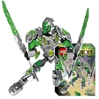 bionicle 79pcs lewa jungle keeper figures 610 1 building block toys for boys compatible all brands 71305 bionicle gift