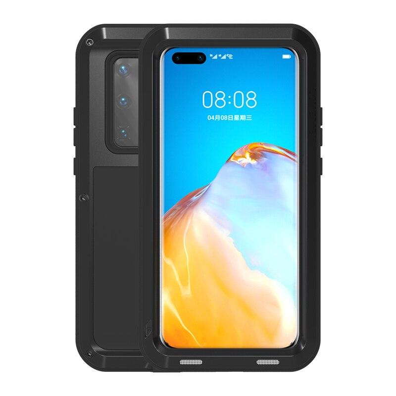 جراب هاتف معدني من الألومنيوم ، جراب فاخر مقاوم للصدمات لهاتف Mate 40 30 20 Pro Lite P40 P30 P20 Nova5i Nova4 Pro 3E