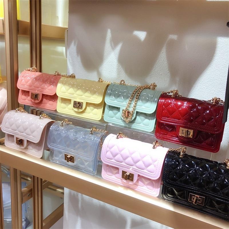 Jelly Handbags Women's Shoulder Bag PVC Mini Crossbody Bags for Women 2020 Small Cluth Purse Clear Transparent Messenger Bag
