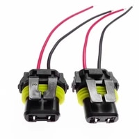 1 pair 9005 9006 bulb socket adapter female connector wiring harness for car headlight fog lamp female adapter connector parts
