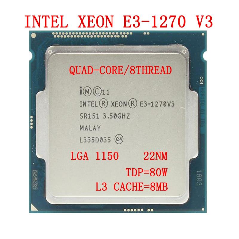 معالج إنتل زيون E3-1270 V3 8M كاش ، 3.50 GHz ، LGA1150 ، 80W ، رباعية النواة e3 1270v3 وحدة المعالجة المركزية لسطح المكتب