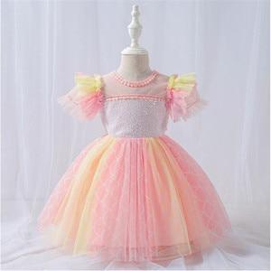 New Christmas Dress for 0-3 Years Tutu Girls First Birthday Princess Dress Vestidos Children Party Dress Girl's Clothes