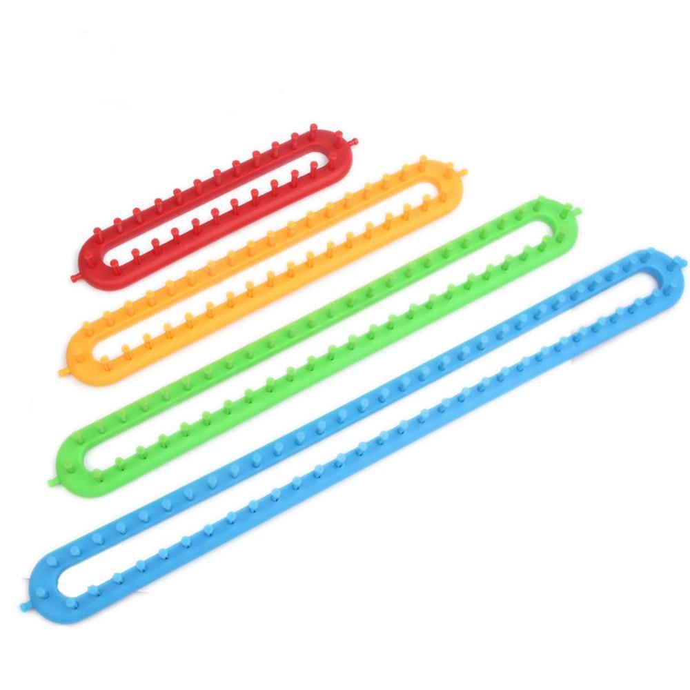 Agujas rectangulares DIY para tejer bufandas, suéter, chal, puntada, herramienta para tejer 1 Juego, 26/36/47cm