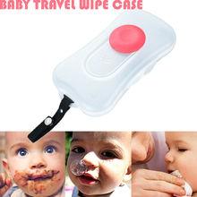 Portable Baby Wipes Wet Tissue Box Organizer Home Car Press Automatic Case Holder Organizer Storage Supplies Holder