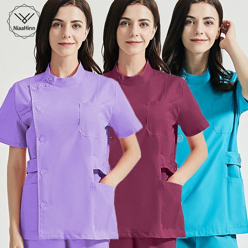 Health services scrubs set Uniforms V-Neck beauty salon work uniform women Sets Pet grooming institu
