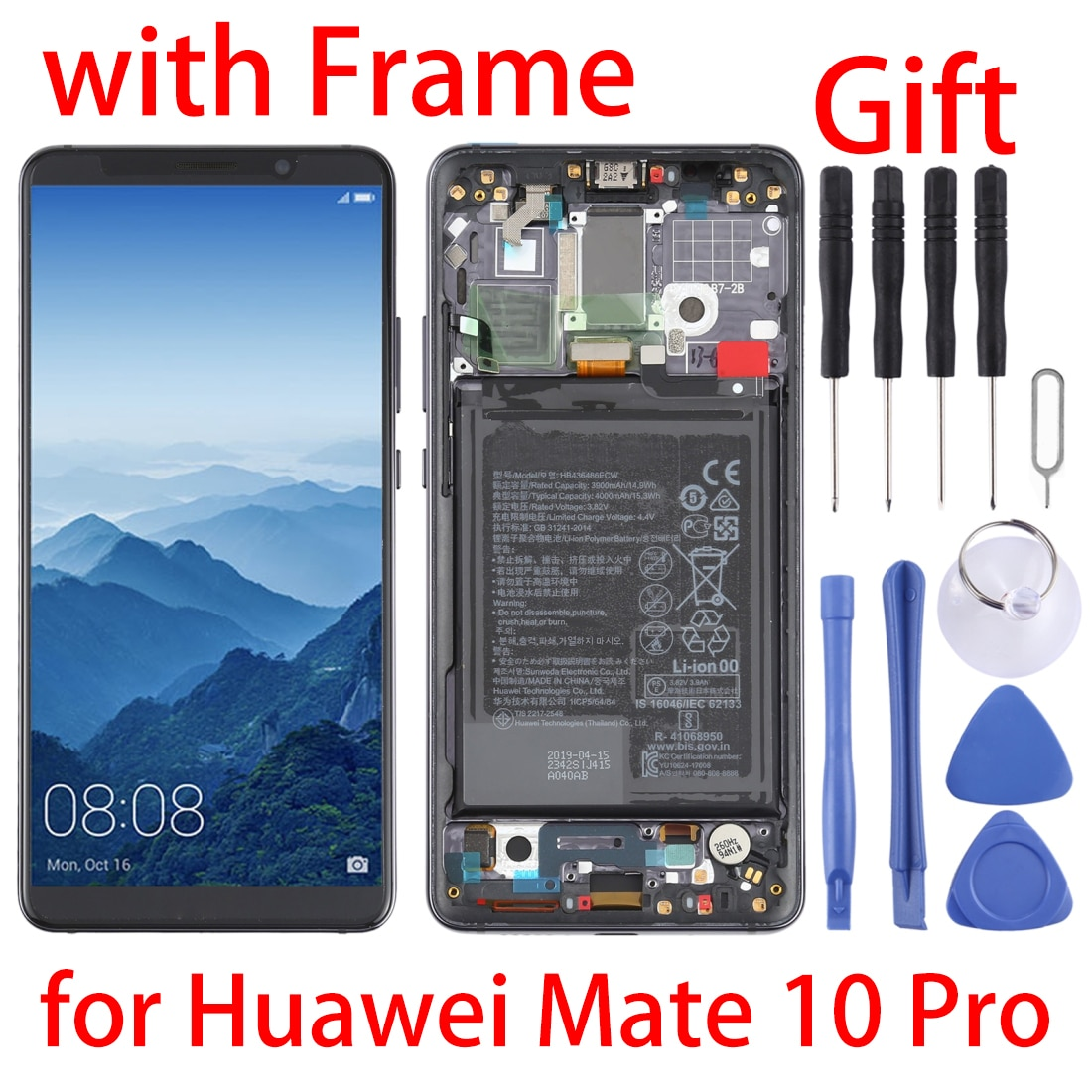 جديد لشاشة Mate 10 Pro LCD ومحول رقمي تجميع كامل مع إطار لهاتف Huawei Mate 10 Pro