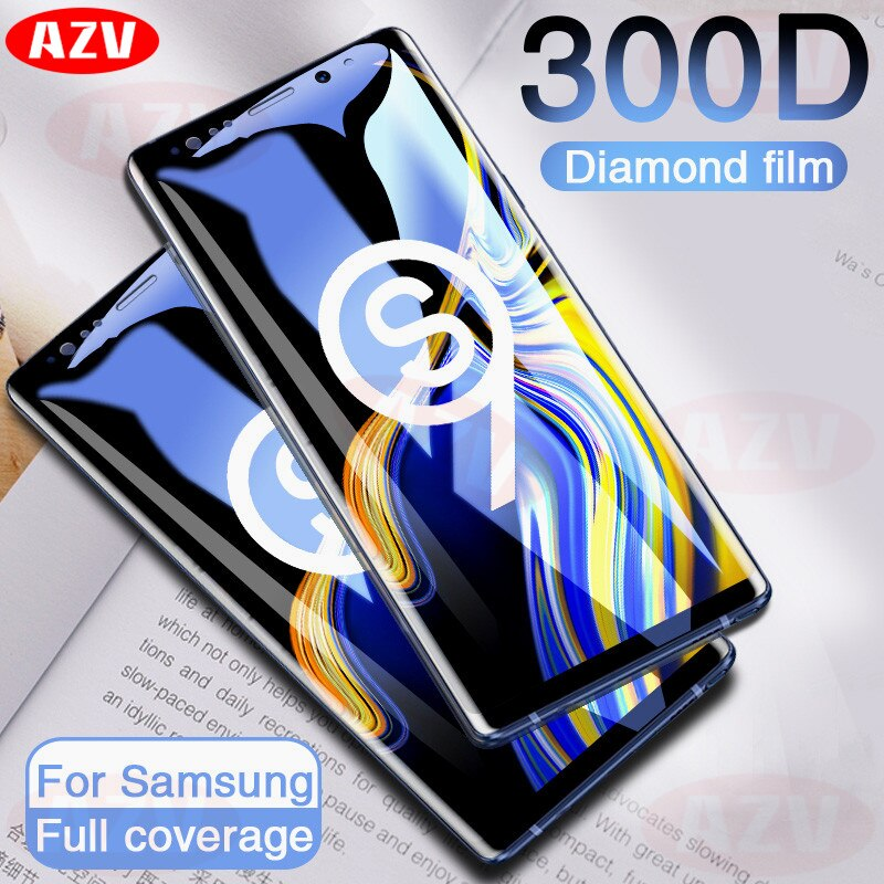 300D полное изогнутое закаленное стекло для samsung Galaxy S9 S8 Plus Note 9 8 протектор экрана на samsung S7 S6 Edge S9 защитная пленка