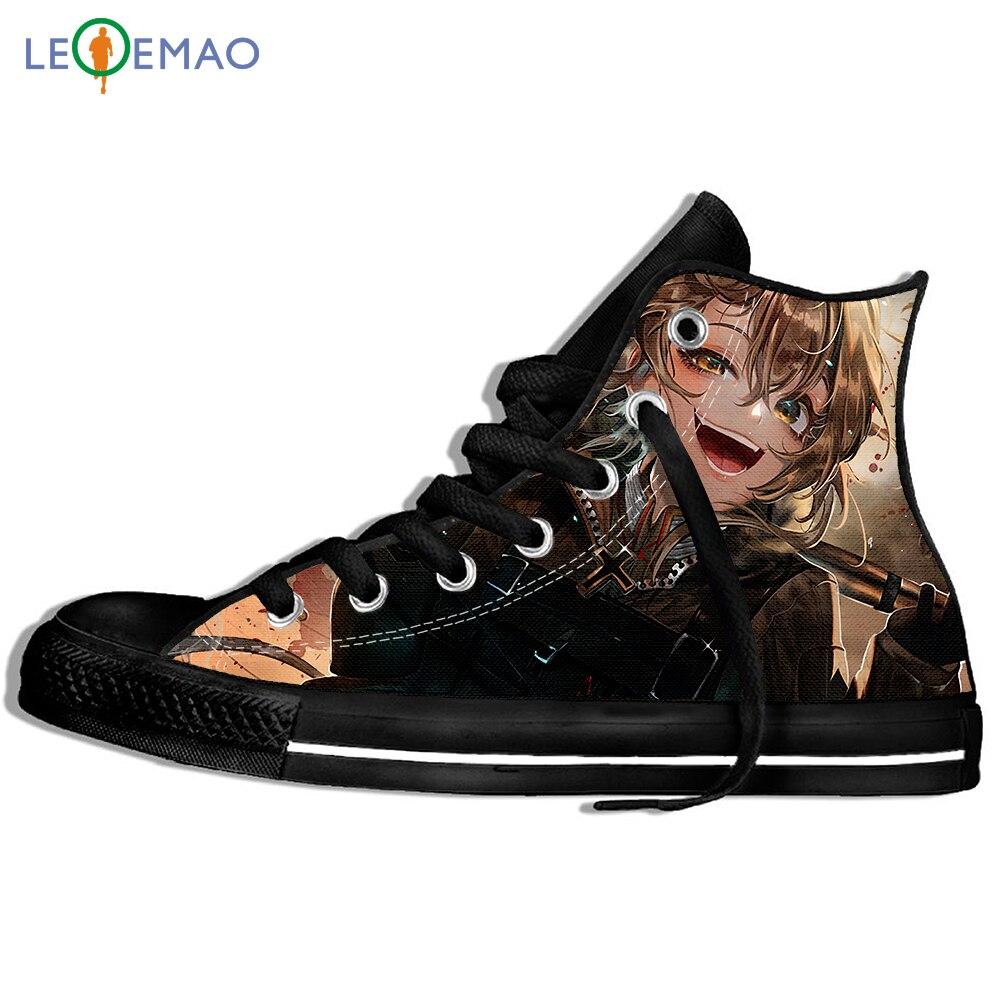 Botas de Lona Sapatos Respirável Japão Anime Youjo Senki Tanya Degurechaff Hip Hop Esporte Tênis Clássicos