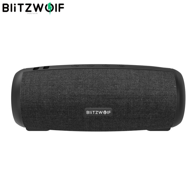 BlitzWolf BW-WA1 12W Subwoofer Wireless bluetooth 5.0 Speaker Dual Passive Diaphragm TWS Stereo TF Card U Disk Speaker Audio Mic
