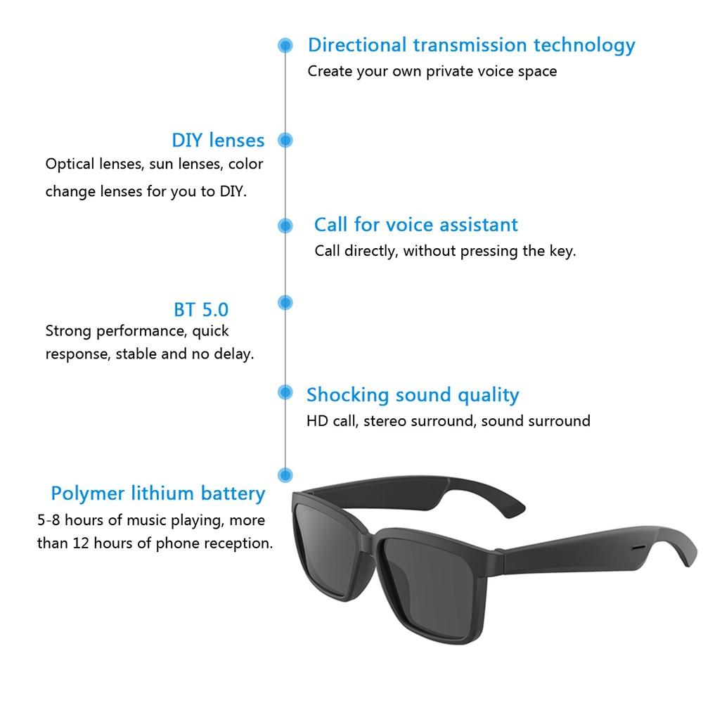 Glasses Earphone Smart Wireless Bluetooth 5.0 Headset with Speaker Hands Free Directional Audio Music Headphones enlarge