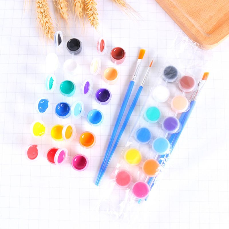 2ml 12 Vibrant Colors Washable Gouache Paint for Kids School Finger Paint N1HD enlarge