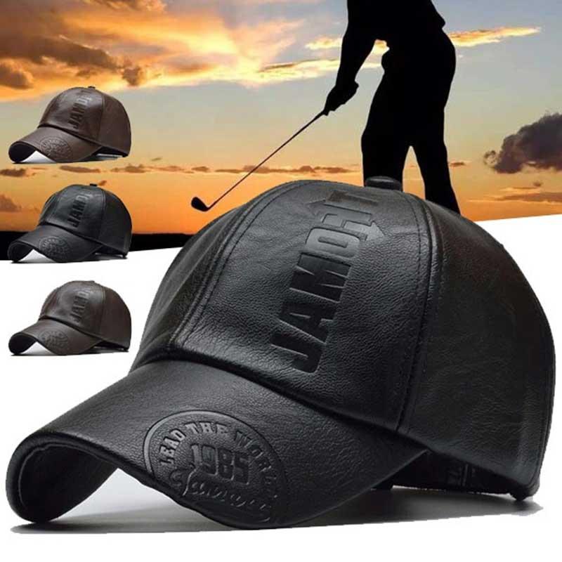 Зимняя кепка из искусственной кожи, бейсболка, Женская регулируемая бейсболка, мужские спортивные шапки для гольфа, тренажерного зала, бега...