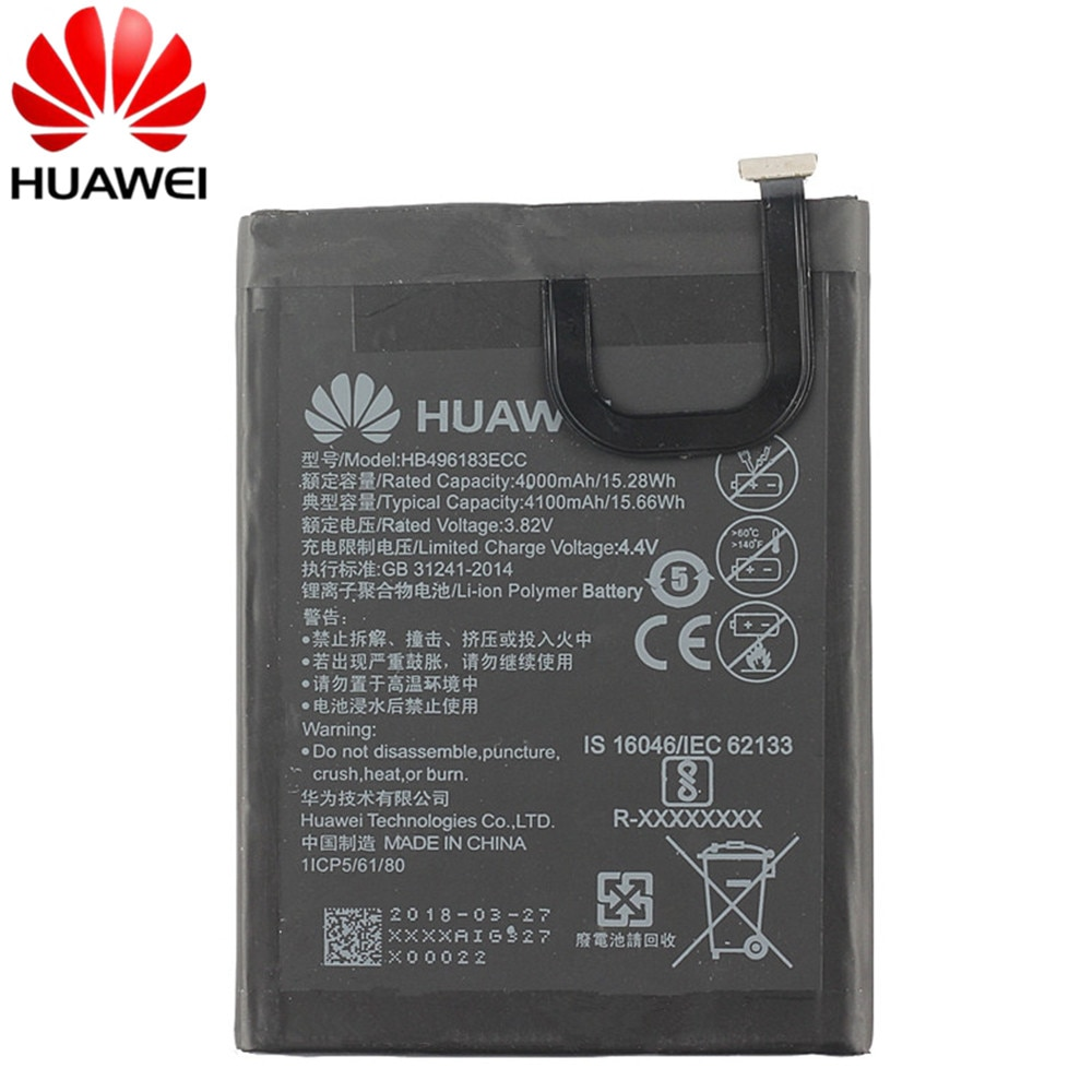 new genuine battery 4000mah for condor bt621 battery High Quality 100% New Original Replacement mobile Phone Battery HB496183ECC 4000mAh For Huawei enjoy 6 NCE-AL00 battery