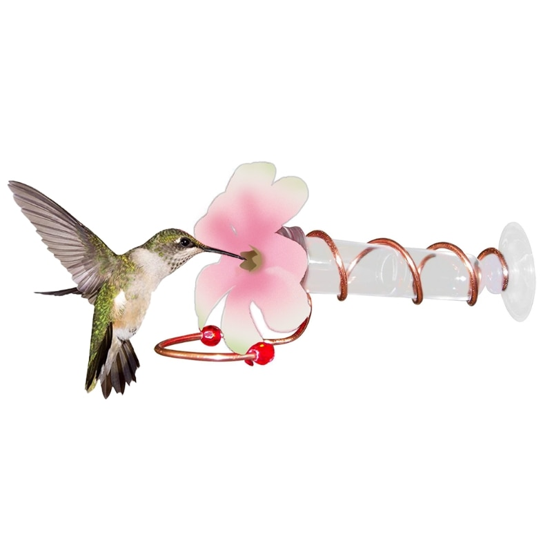 Pink and White Hummingbird Feeders Great for Garden Decoration and Bird Watching for Bird Lovers  15
