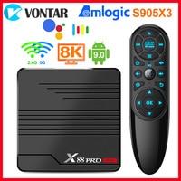 ТВ-приставка X88 PRO Mini, Android 9,0, Amlogic S905X3, 4K, 60 кадров/с, Google Player, Youtube, медиаплеер 2 ГБ, 16 ГБ, 4 Гб, 32 ГБ, ТВ-приставка X88PRO