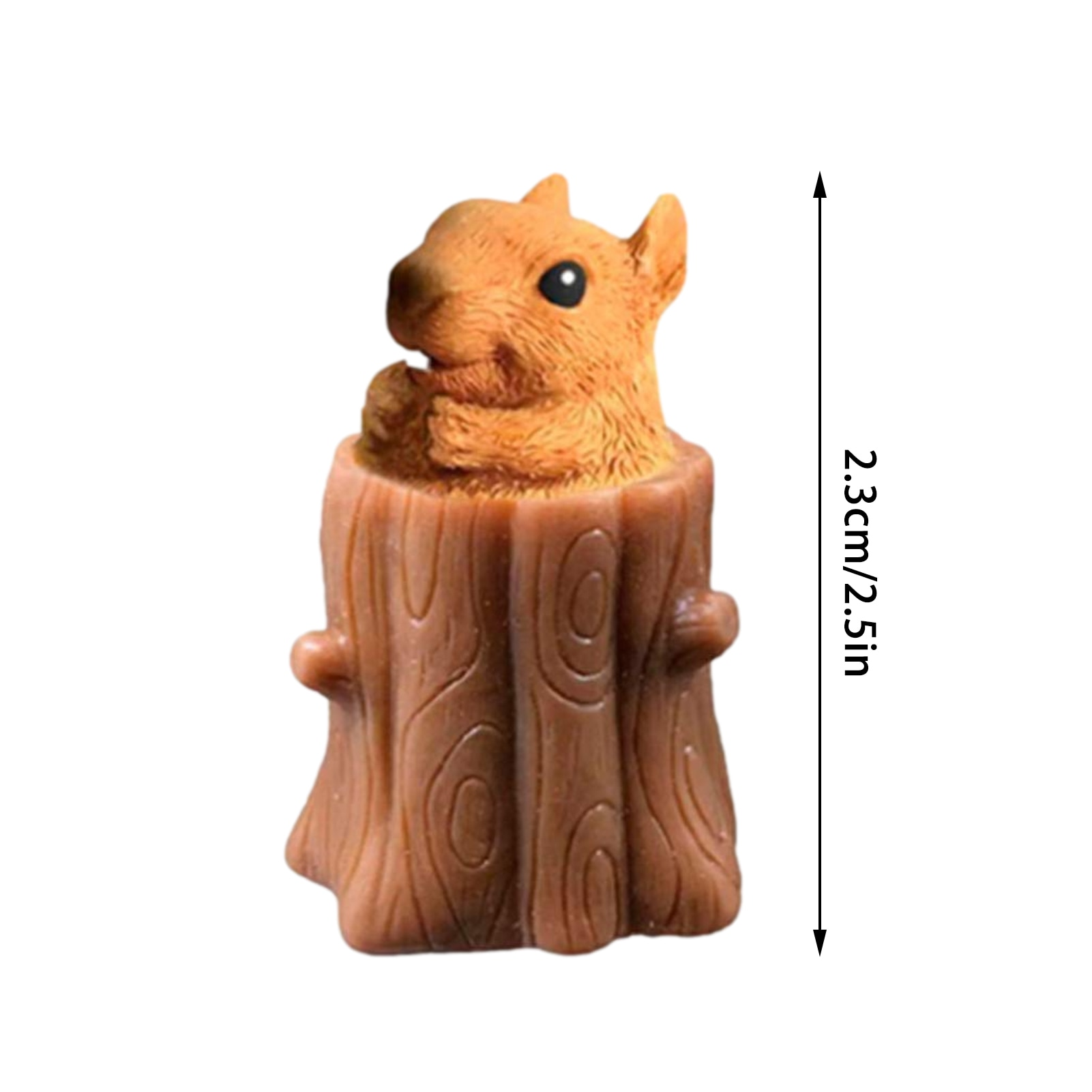 Cute Squirrel Vent Cup Decompression Toy Animal Squirrel Squeeze Pen Holder Stump Rubber Stake Fidget Toys Gift For Kids enlarge