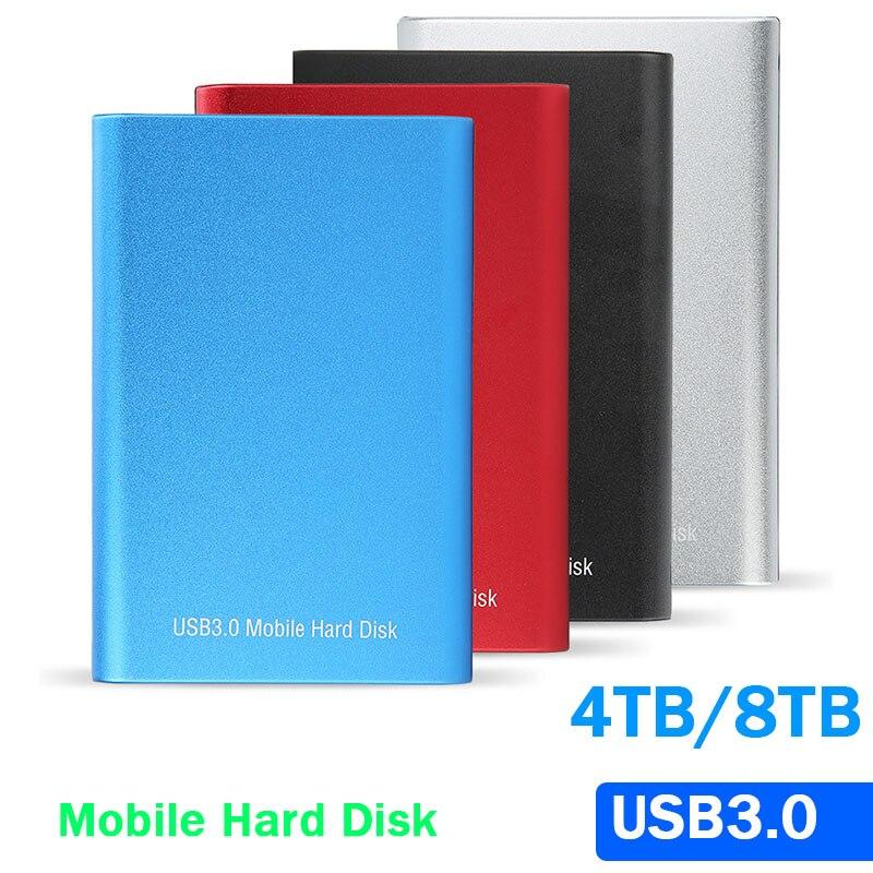 Портативный внешний жесткий диск 2,5 дюйма, 8 ТБ, 4 ТБ, 2 ТБ 1 ТБ, внешний жесткий диск HD, подходит для ноутбуков