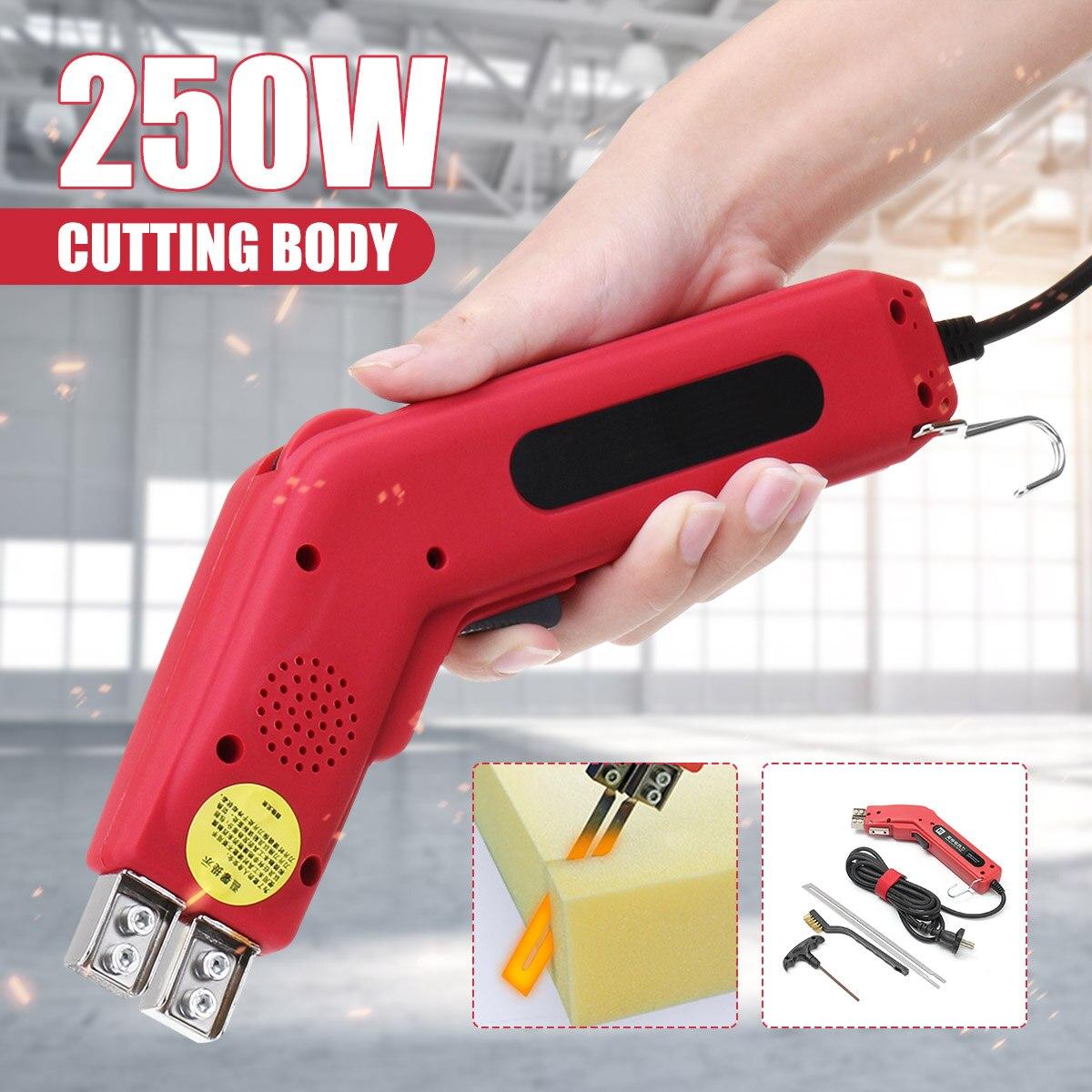 250 واط الكهربائية الساخن سكين الستايروفوم قاطع الفوم أداة مع شفرة المحمولة المهنية قاطع الفوم أدوات قطع سكين